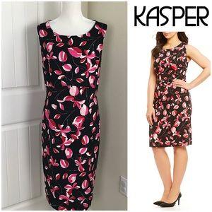 Kasper Sheath Blossom Floral Print Dress Sz 14 NWT